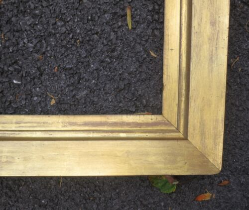 c1840 Rare LARGE AMERICAN Sully Style GILDED Antique PORTRAIT Antique Frame
