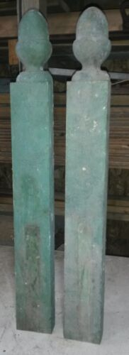 Antique Wood  Victorian Architectural Salvage, Acorn Top .Pair. (OLD)