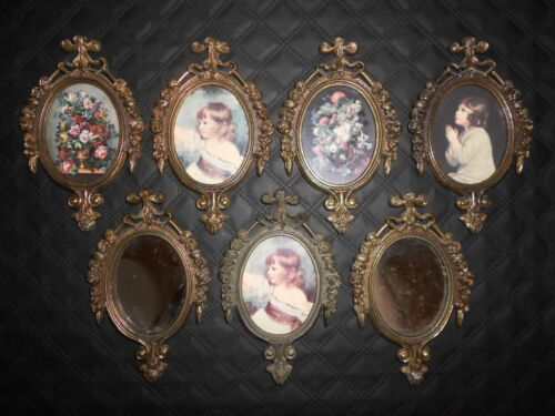 Vintage Small Ornate PICTURE FRAMES Italy Lot of 7