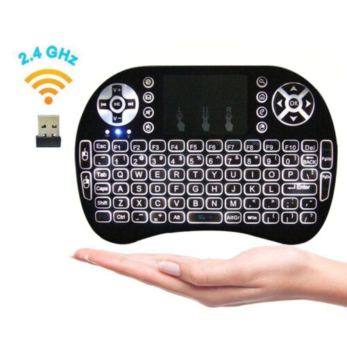 Backlit 2.4GHz Wireless Keyboard Remote Control Touchpad for Smart TV Box PC PS3