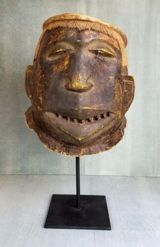 Two-Toned Unique Antique Tanzanian Makonde Helmet Tribal Mask