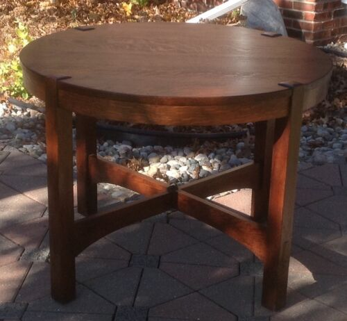 Gustav Stickley Antique Table about 1907 vintage signed Large Red Decal