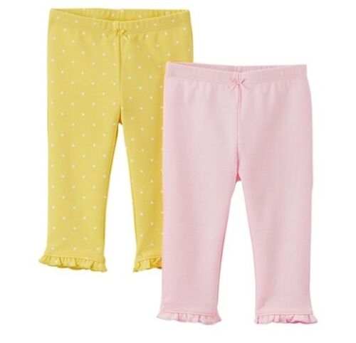 Carter's just one you Girls' 2 Pack Pants - Pink & Yellow NEW