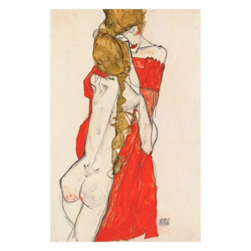 Mother and Daughter by Egon Schiele Giclee Canvas Print