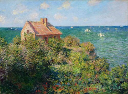 The Fisherman's House at Varengeville Claude Monet Giclee Print Repro on Canvas