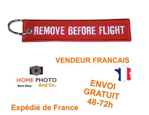 Porte cles remove before flight keychain porte clefs cle avion aviation