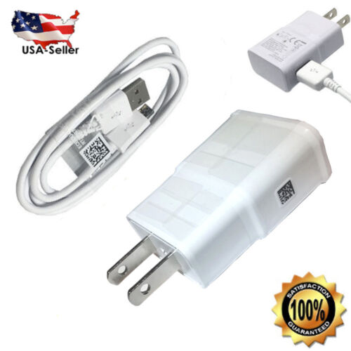 Samsung Galaxy S7 Edge S6 Note 5 Fast Rapid Wall Charger USB Charging Cable Cord