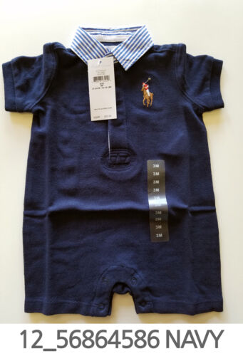 Polo Ralph Lauren Baby Toddler Clothing Romper 3/6/9 Months New w Tag #12
