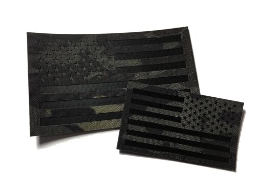 The MULTICAM BLACK - URBAN IR (infrared) REFLECTIVE PATCH Set (hook/loop)Army - 48824