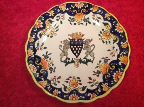 Antique French Faience Hand Painted Plate Desvres n Quimper, ff381