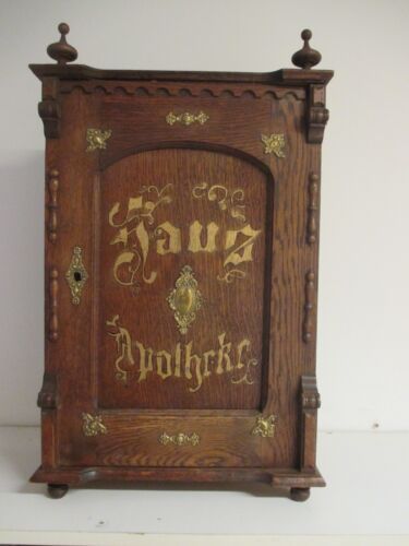 Antique Gorgeous Medicine  Apothecary Cabinet w. Storage Spaces and 4 Drawers