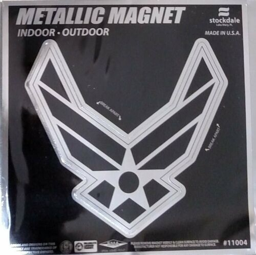 """Air Force 6"""" MAGNET Silver Metallic Style Vinyl Auto Home United States MilitaryOther Militaria - 135"""