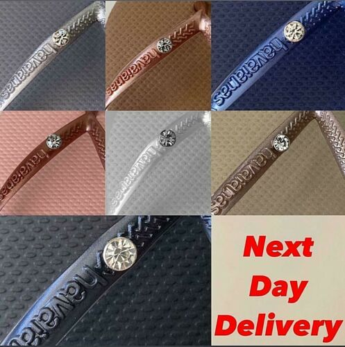 Original Genuine HAVAIANAS  Slim Crystal Flip Flops Women  2019 new colors!  <br/> NEXT DAY  delivery !! UK stock - original box
