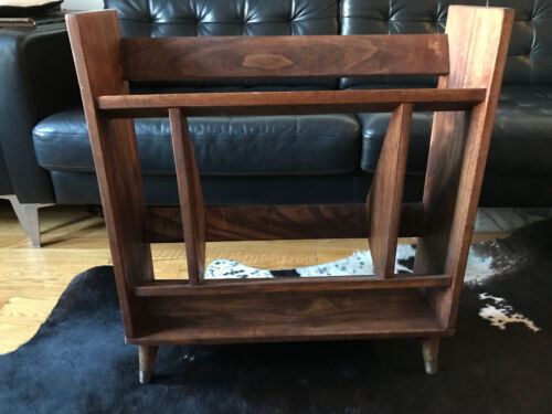 Mid Century Modern Wooden Bookcase / Bookshelf Small Size Good For Small Spaces