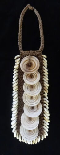 Tribal Asmat Shell Necklace Ceremonial Hand Made Jewelry Ethnic Adornment Papua