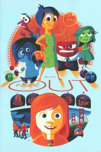 Inside Out Poster - Sadness Variant - Tom Whalen - Limited Edition of 67