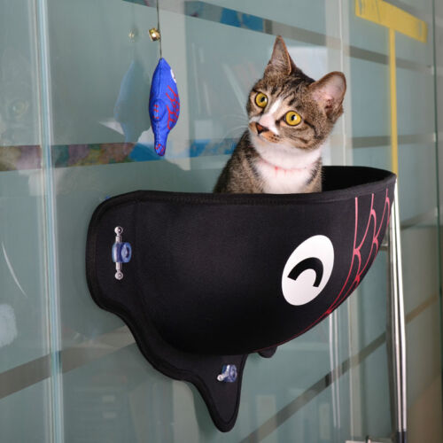 Cat Window Bed Seat Perch Kitty Mounted Pet Hanging Shelf Seat with Suction CupZ