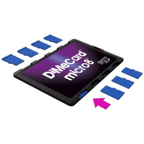 DiMeCard micro8 microSD Memory Card Holder  <br/> Ultra thin credit card size protective storage case