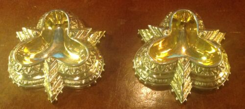 Two Antique Sheffield Silver Plated and Gilt Master Salt Cellars