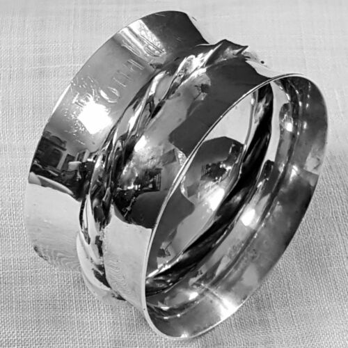 Silver Flutes by Towle napkin ring 102 intro 1941 in sterling silver mono Ronald