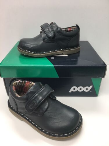 Pod Kirk Infant Boys Casual Shoes in Navy Leather ( Now only £14.90)