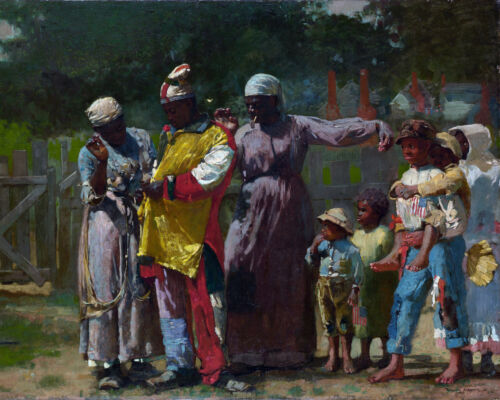 Large African American Family Dressed For The Carnival Painting Canvas Art Print