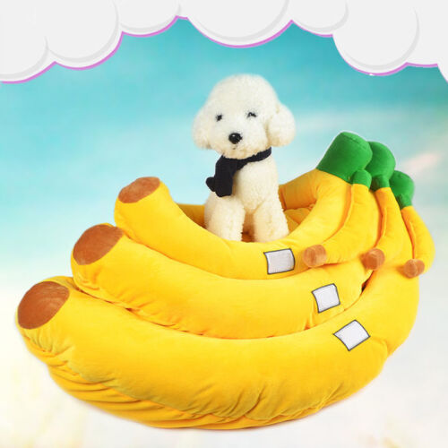 Soft Removable Puppy Dog Cat Pet Banana Bed Home House Nest Cushion Blanket Gift