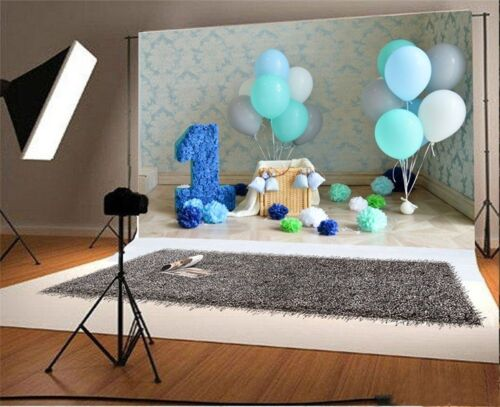 Baby 5x3ft One Year Birthday Photography Backgrounds Vinyl Photo Backdrops Props