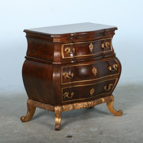 Antique Rococo Small Chest of Drawers, Denmark circa 1890-1910