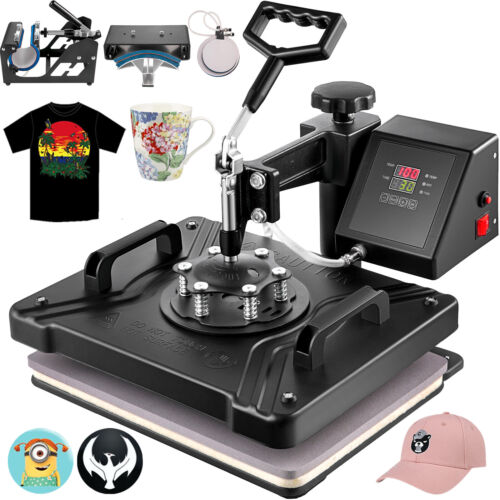 5 in 1 Heat Press Transfer T-Shirt Mug Hat Sublimation Printer Printing Machine <br/> √Overload Protect Replacement!√Avoid Short Circuit