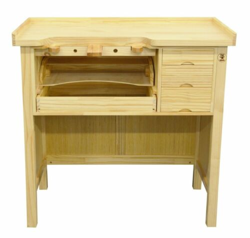 Jewelry Bench Solid Wood Workbench with Drawers Jewelers Bench Arts and CraftsJewelry Workbenches - 67719