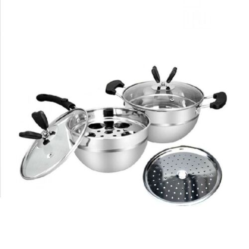 Stainless Steel Butterfly Cooking Pot 4-piece Set    <br/> Paypal Accepted✔Same Business Day*Dispatch✔Powerseller✔