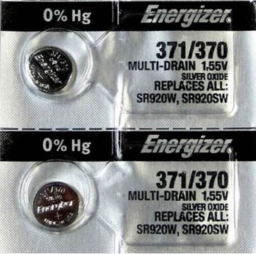 2-371/370- 2 Qt. Energizer Battery  SR920SW  SR920W V371-Authorized seller.