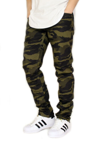 MEN'S CAMO TWILL STRETCH SKINNY JEANS VICTORIOUS