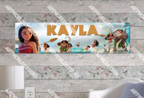 Personalized/Customized Moana Movie Name Poster Wall Art Decoration Banner