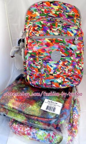 New w Tag Kipling Seoul Large Printed Backpack  with laptop protection