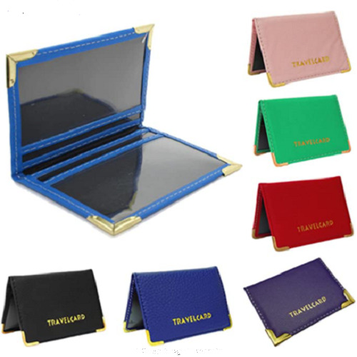 Fashion PU Leather Travel Bus Pass Holder Oyster Wallet Rail Card Cover Case