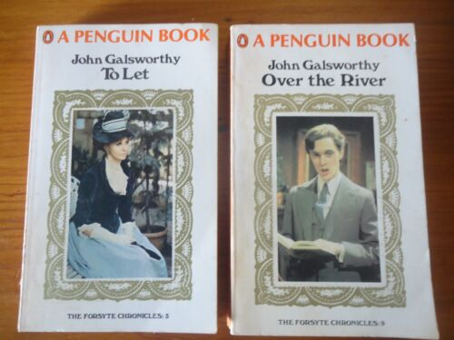 2 X Penguin books - John Galsworthy - Over the River & To Let