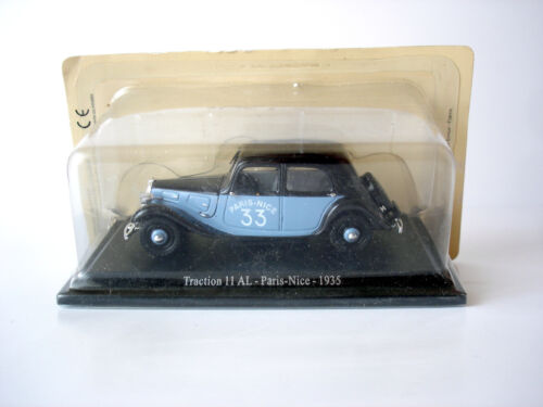 VOITURE MINIATURE CITROEN TRACTION 11 AL PARIS-NICE 1935 - NOREV - 1/43