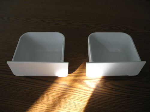 Plastic dish food/water Hoei replacement cup for bird, parrot cages Set of  2