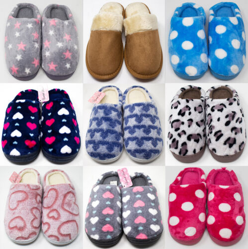 Brand New Hard Sole Ladies Slippers - Great Gift Idea!! FREE P&P!! <br/> 🌟 A RANGE OF COLOURS, PATTERNS AND SIZES AVAILABLE 🌟