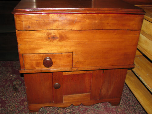 Antique 19th Century Pine Cottage Commode Dry Sink