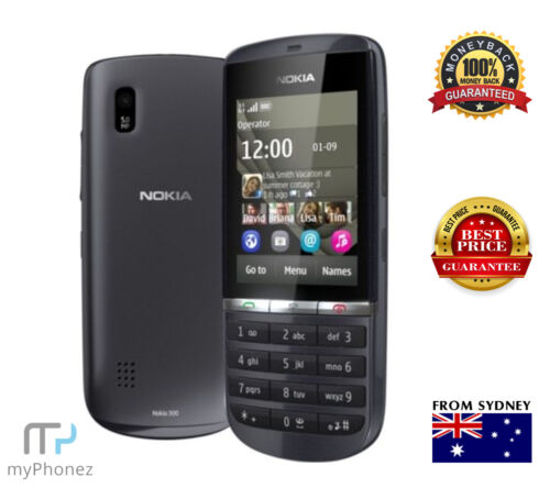 NOKIA ASHA 300 3G 5MP 1GHz GREY Smart Phone Unlocked Senior Cheap Button Phone <br/> 20% off* with code PILOT. T&Cs apply + GST Tax Invoice