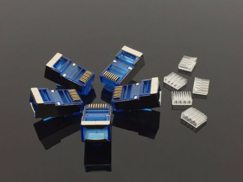 20x RJ45 Shielded Crimp Connector Modular Plug Head 8P8C   CAT7 STP LAN  Network