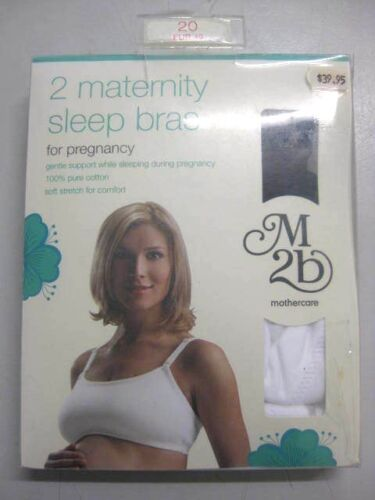 Mothercare M2b 2 Maternity Sleep Bras for Pregnancy - 100% Cotton - Wire Free