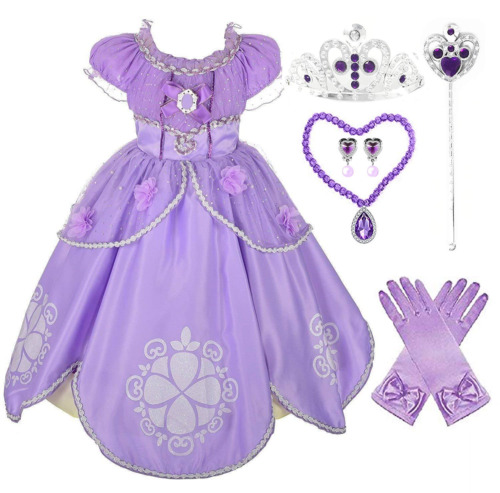 Romy's Collection Girls Sofia Inspired Princess Dress-Up Costume Set