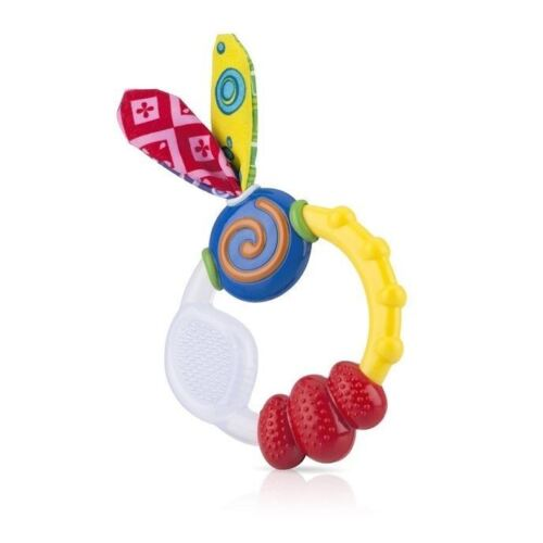 4 x Nuby Soothing Teethers Gum-eez 4M+Soft Silicone Teether And Teething Gel 15g