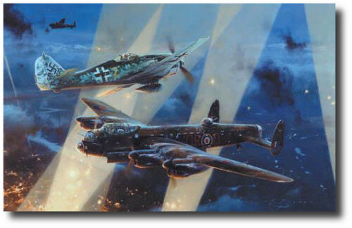 No Turning Back  by Robert Taylor - Lancaster - Fw190 - Bomber Command Ed.