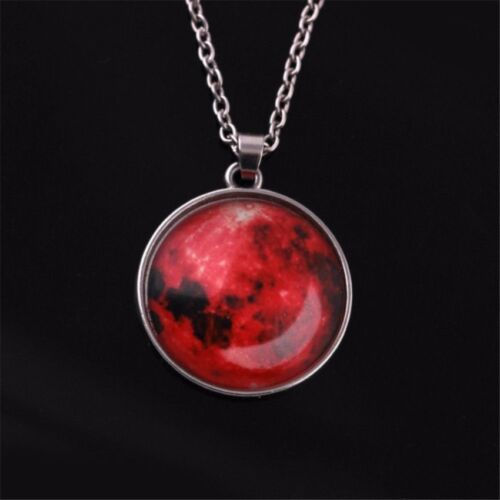 Moon Necklace Round Glow in the Dark Necklace (Red)  <br/> Paypal Accepted✔Same Business Day*Dispatch✔Powerseller✔