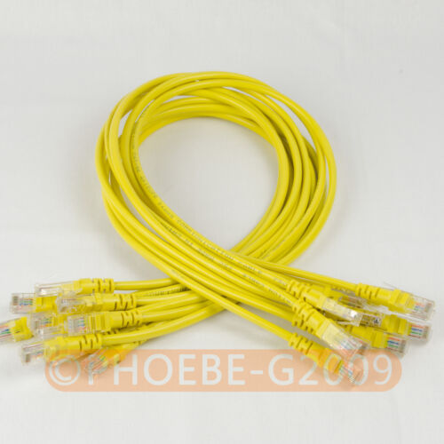 Lot 10 cables/ 27in 70CM 568B CAT5E UTP Ethernet RJ45 Patch Cable Network Cable
